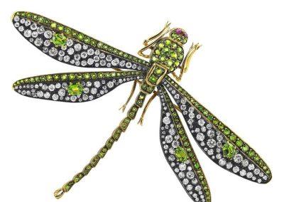 demontoid-garnet-diamond-dragonfly