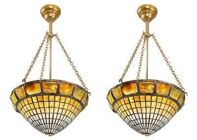 tiffany-turtleback-tile-chandeliers